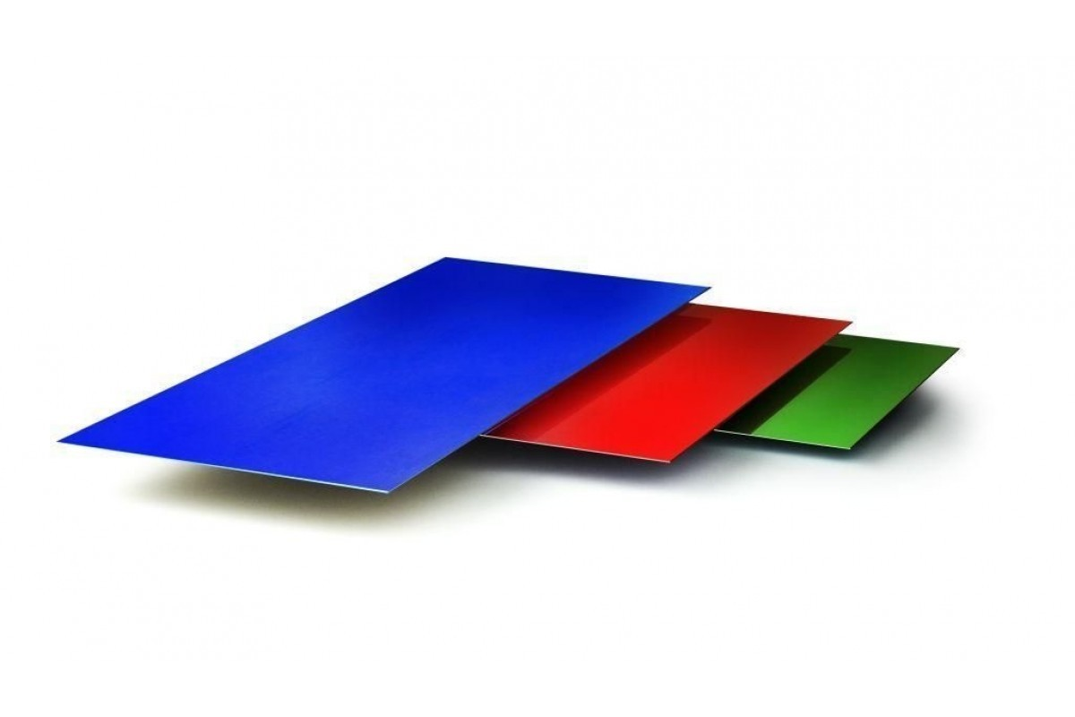 Гладкий лист стандарт полиэстер одностороннее 0,45 мм цвет 1018, 2004, 3020, 4005, 4006, 8004. 12202