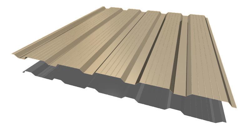 Профнастил НС - 21' стандарт полиэстер одностороннее 0,65 мм цвет 3005, 5002, 6005, 7004, 8017, 9003. 12228