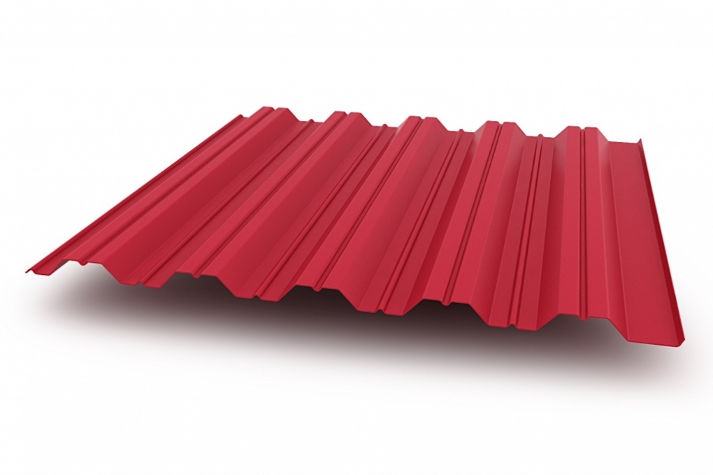 Профнастил НС - 35' стандарт полиэстер одностороннее 0,45 мм цвет 1018, 2004, 3020, 4005, 4006, 8004. 12234