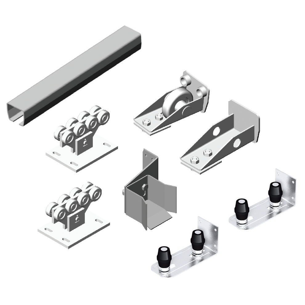 Система роликов и направляющих для балки х/к 71х60х3,5 00069