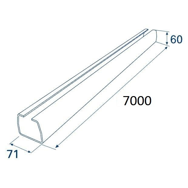Балка прокатная х/к 71х60х3,5 7000мм 11177