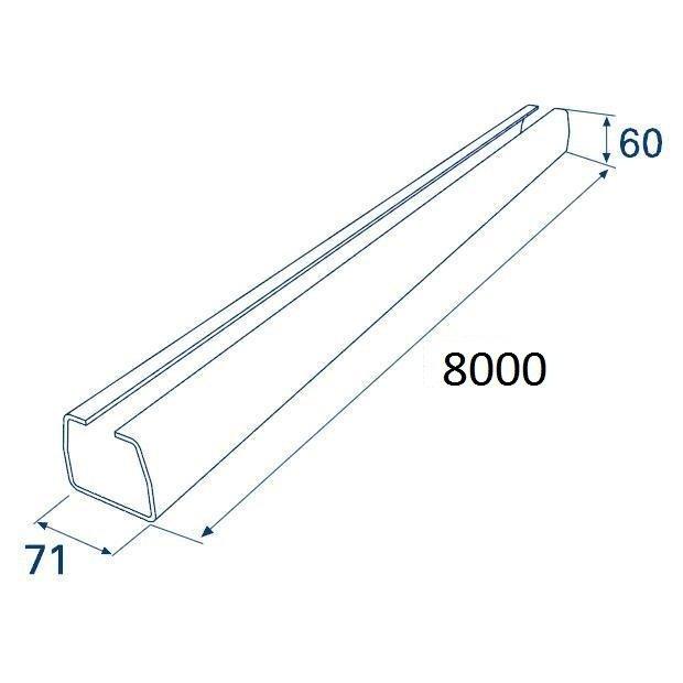 Балка прокатная х/к 71х60х3,5 8000мм
