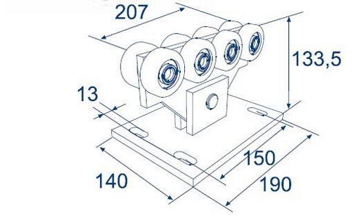 Опора роликовая для балки 71х60х3,5 DHE4