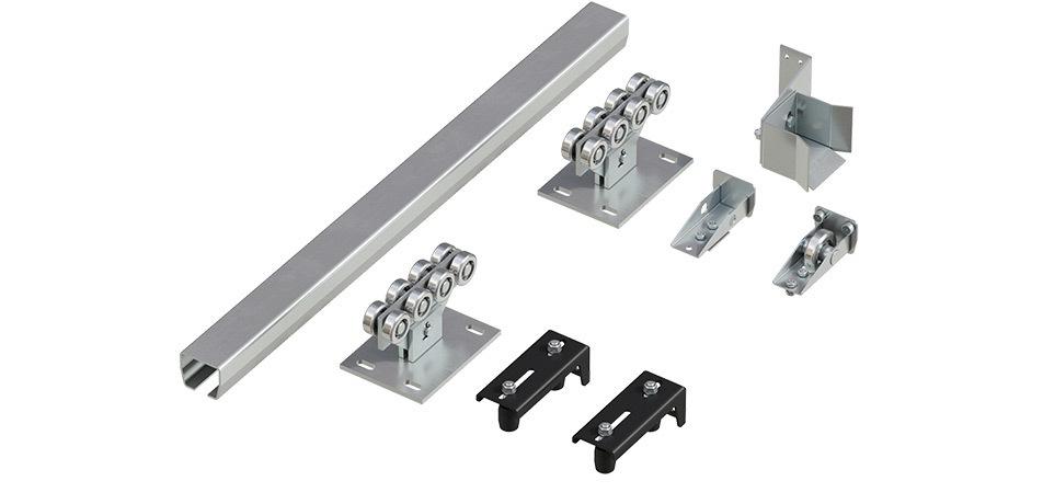 Система роликов и направляющих для балки х/к 71х60х3,5