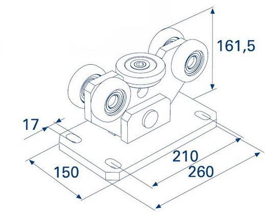 Опора роликовая для балки 95х88х5 DHE100