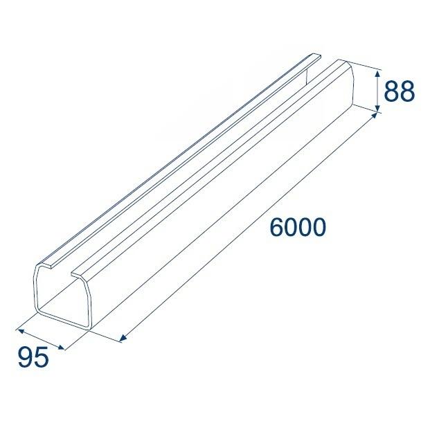 Система роликов и направляющих для балки х/к 95х88х5