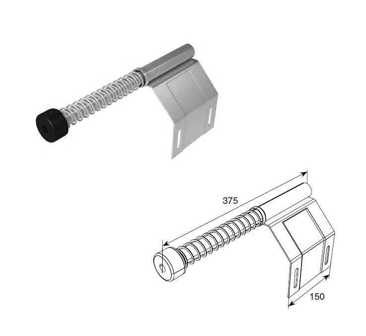 Пружинный амортизатор укороченный 11482