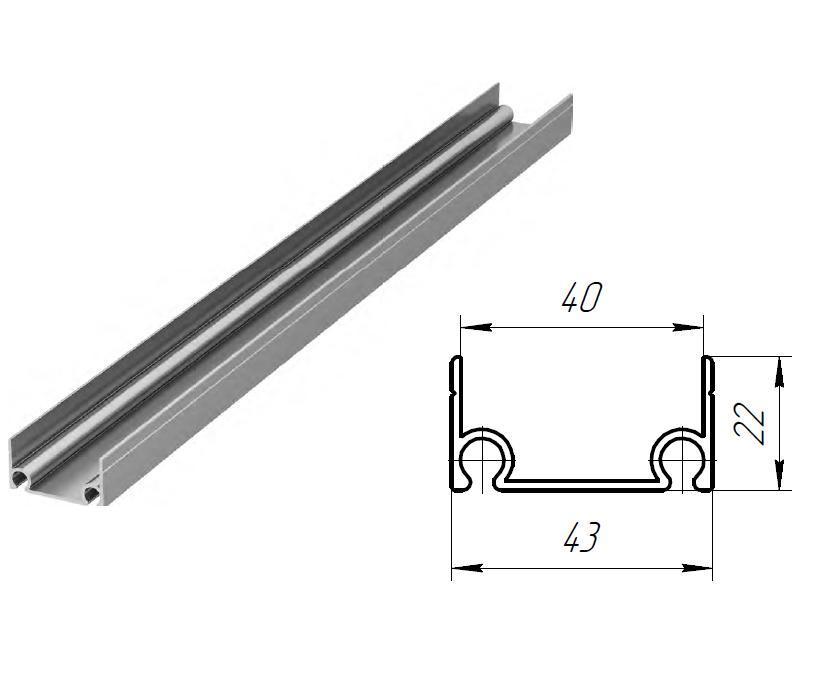 Облегченный верхний и нижний алюминиевый профиль 11485
