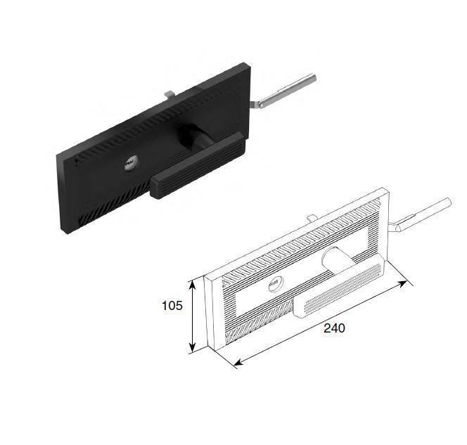 Комплект замка одностороннего для секционных ворот RSD