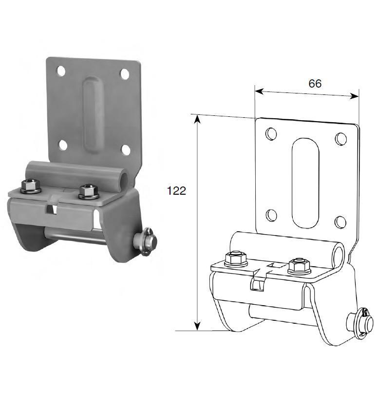 Нижний угловой кронштейн регулируемый RSD01 11513