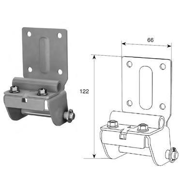 Нижний угловой кронштейн регулируемый RSD01