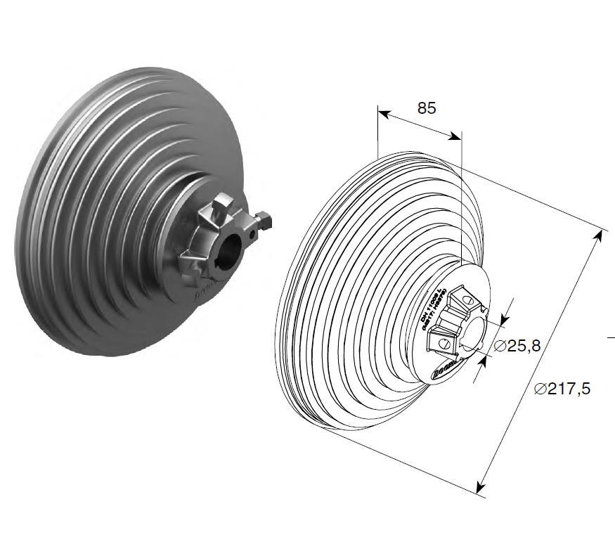 Барабан (OMI 11 VL) H=3378 мм (пара) 11160
