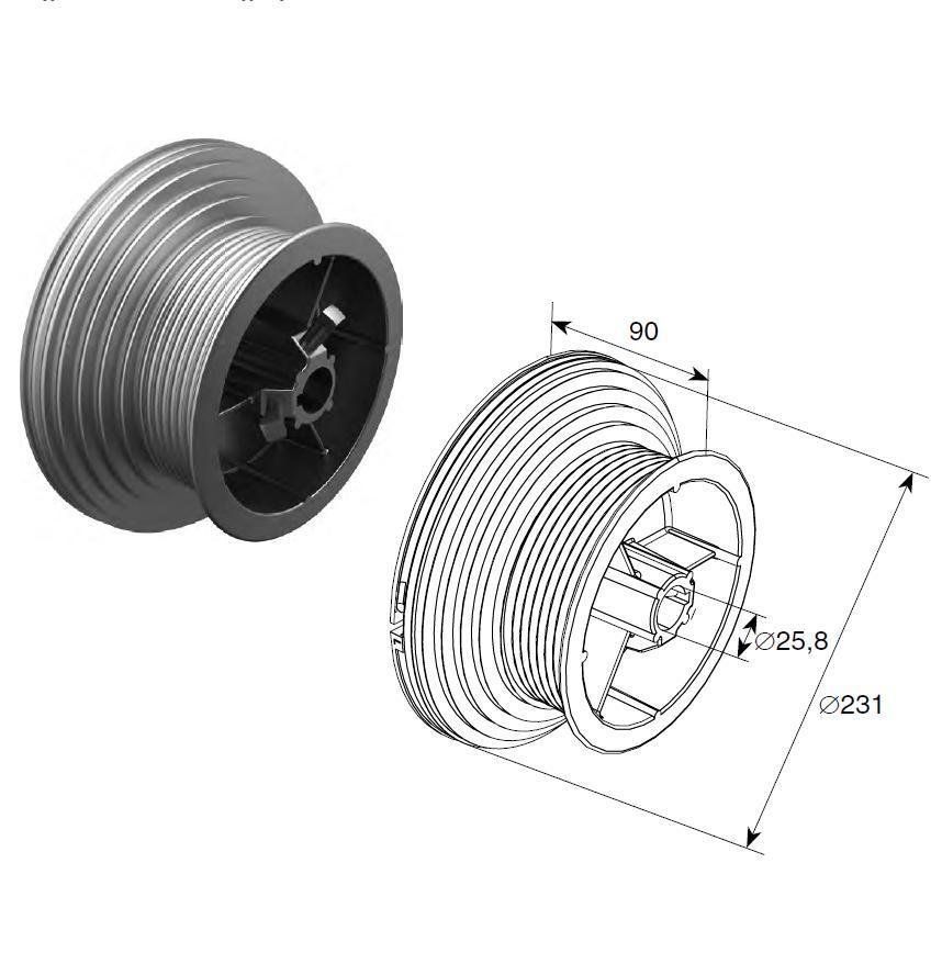 Барабан (OMI 120 HL) HL=3048 мм (пара) 11159