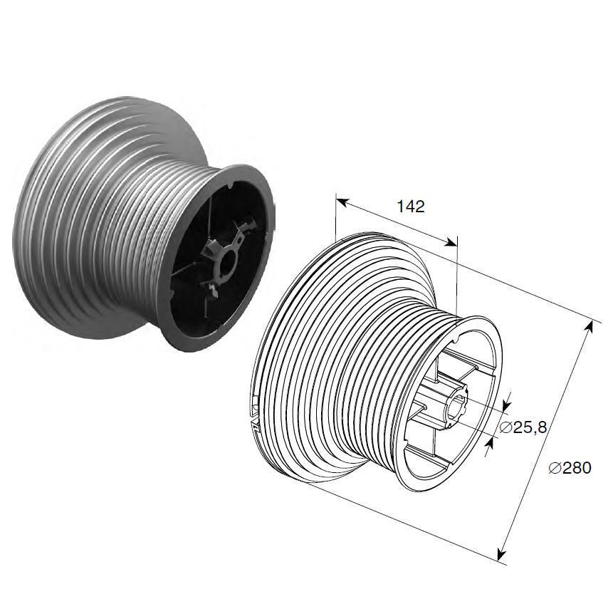 Барабан (OMI 164 HL) HL=4100 мм (пара) 11527