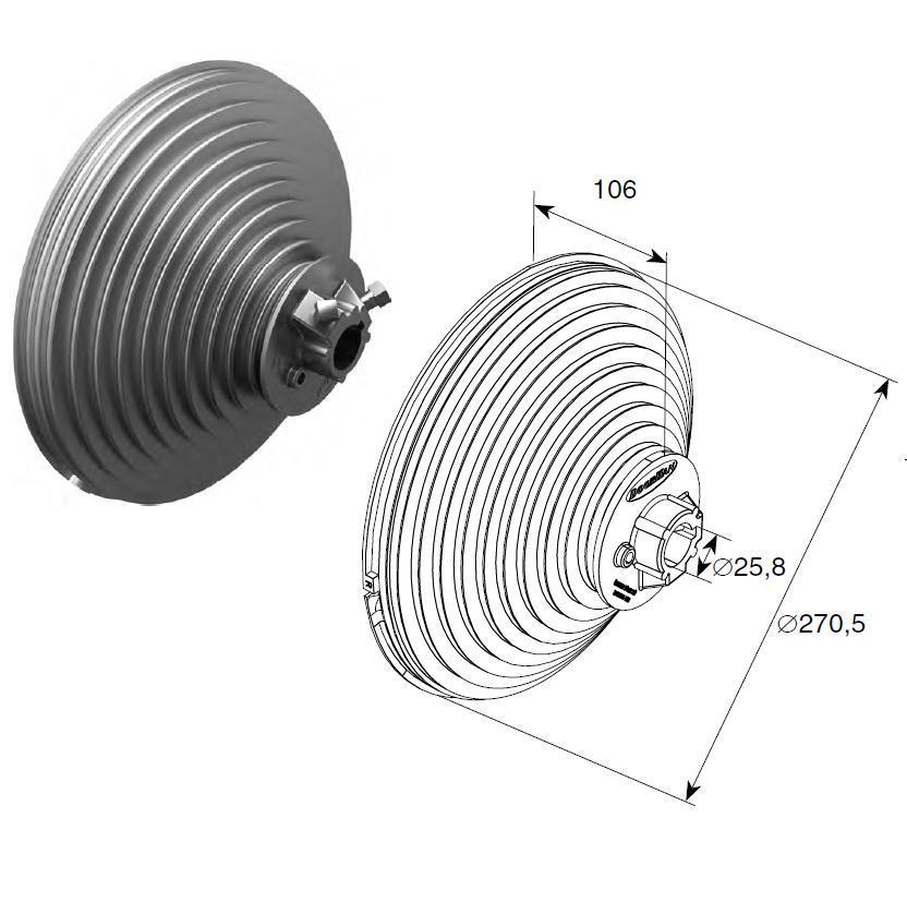 Барабан (OMI 18 VL) H=5512 мм ( пара ) 11161