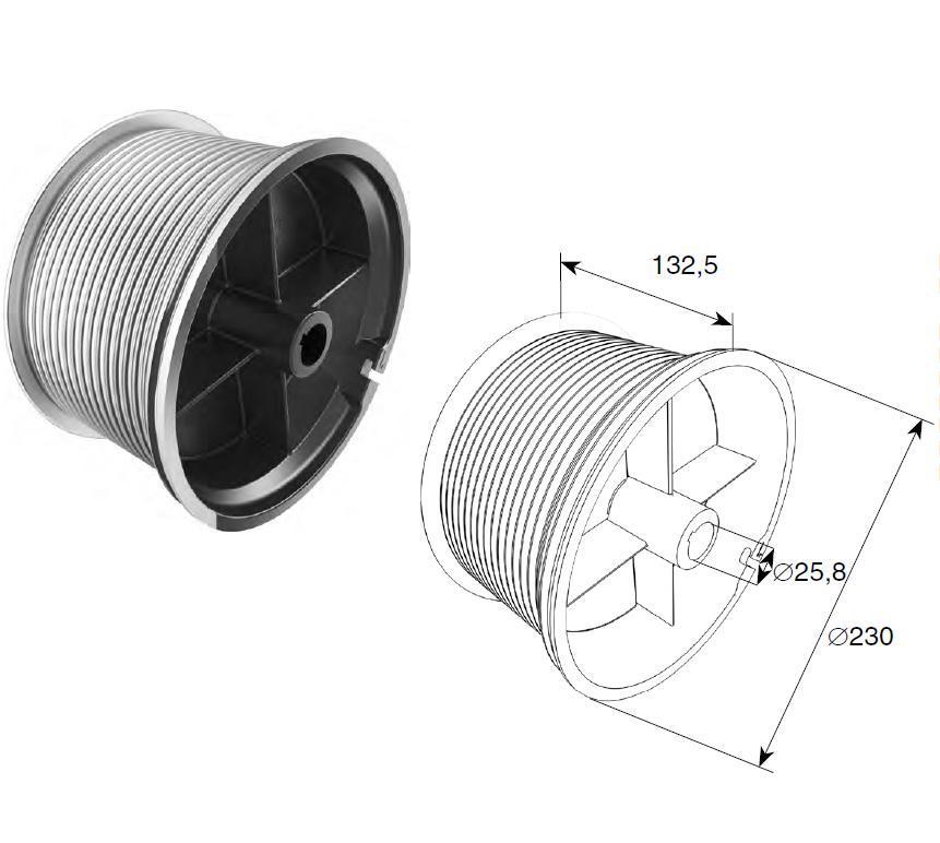 Барабан (OMI 32) H=9780 мм (пара) 11530