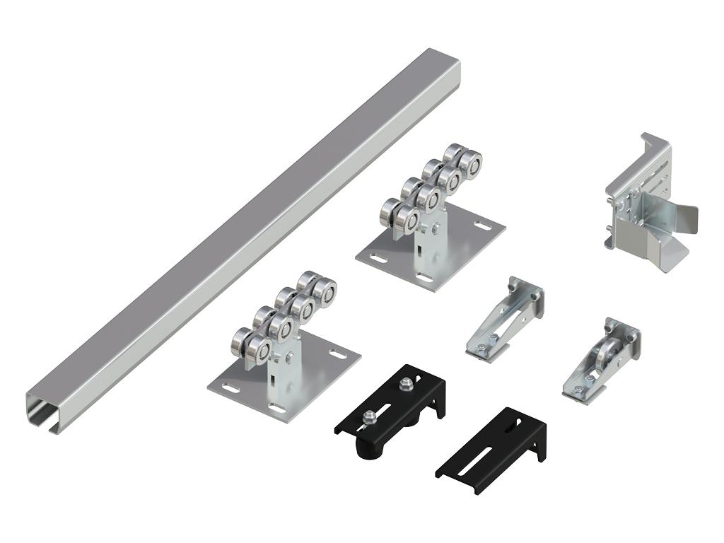 Система роликов и направляющих для балки 60х55х3 11534