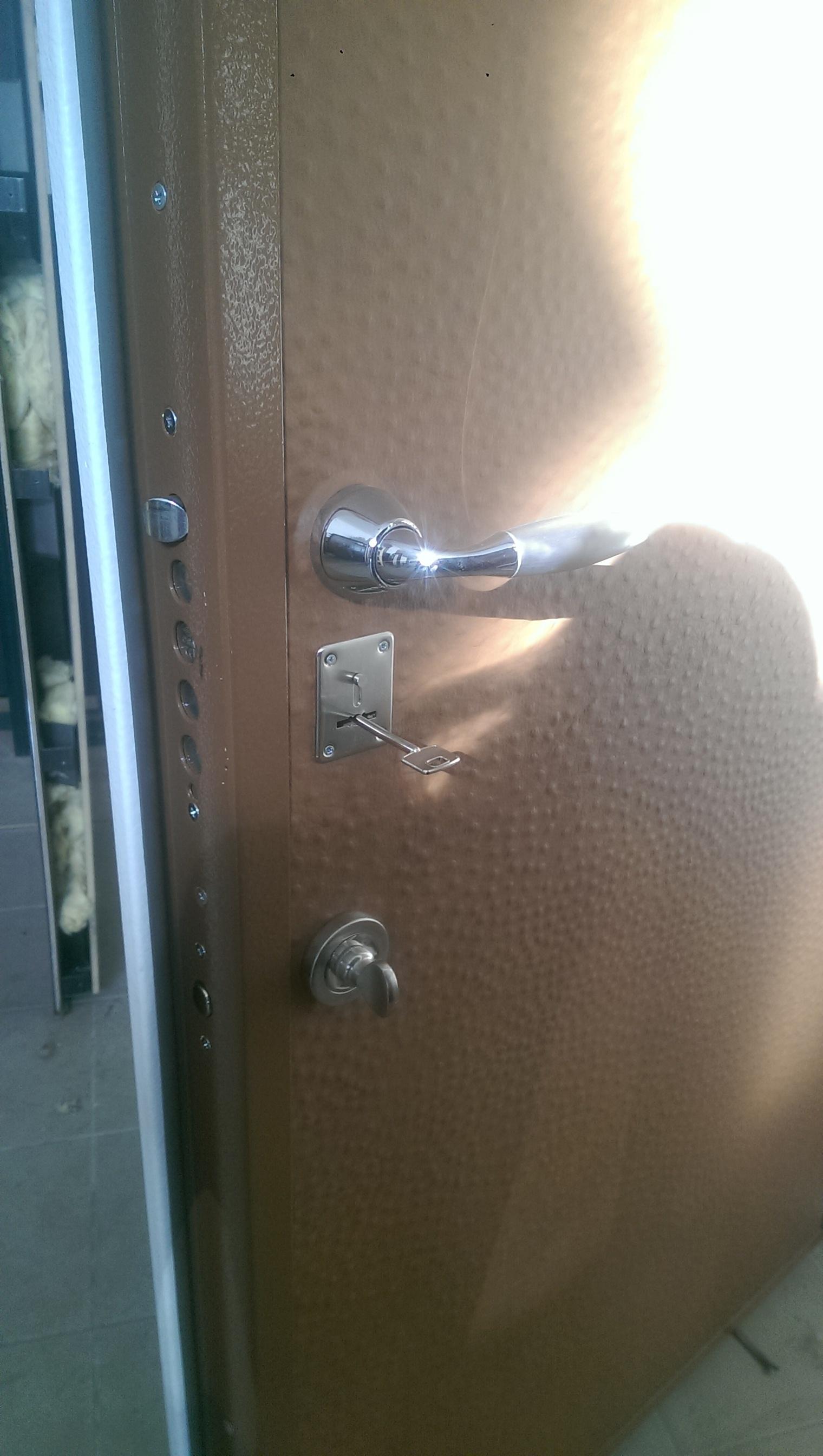 "Входная дверь ""Кристалл"" (кож.зам. с 2-х сторон), 2090х950 левая"