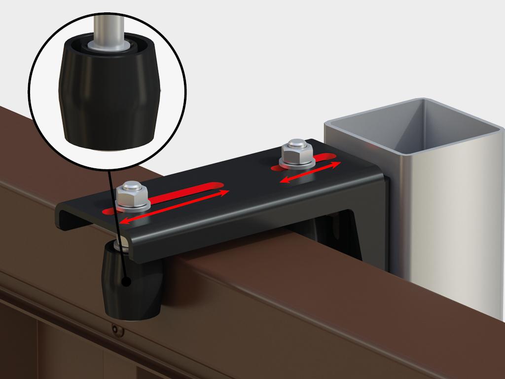 Направляющее устройство увеличенное с новыми роликами RAL9005 11379