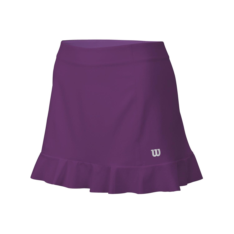 """Wilson Ruffle Stretch 12.5"""" Skirt - Dark Plumberry"""