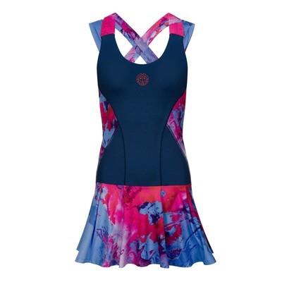 Lipa Tech Dress (2 in 1) - DarkBlue/Red/Blue