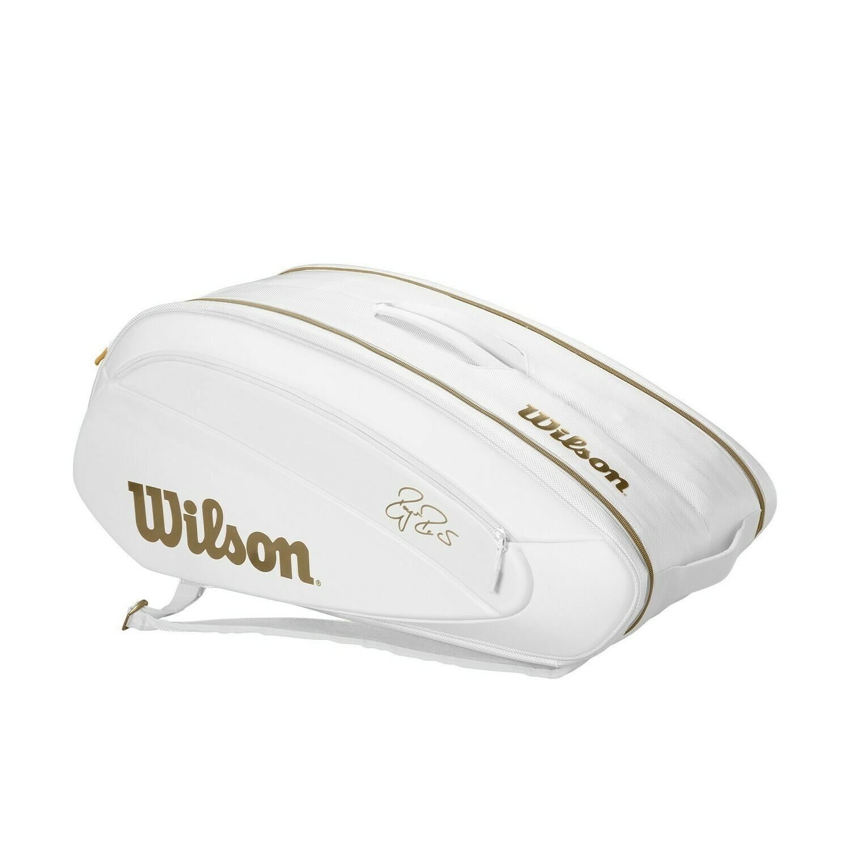 Wilson Federer DNA 12 Pack Bag - White/Gold