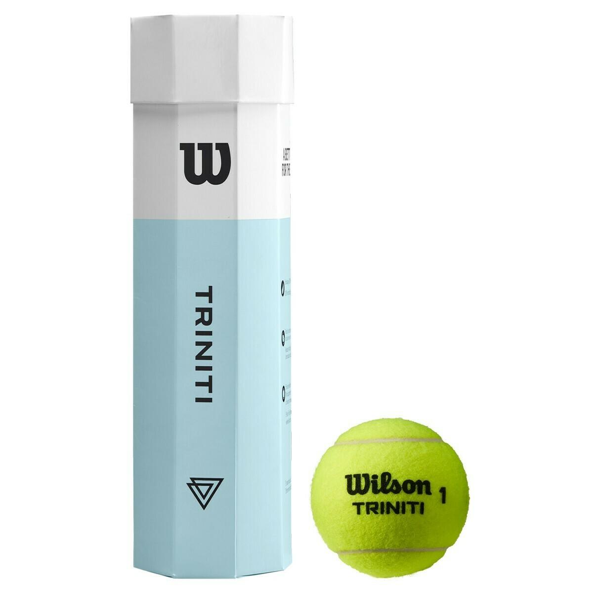 Wilson Triniti Tennis Balls - 4 Ball Tube