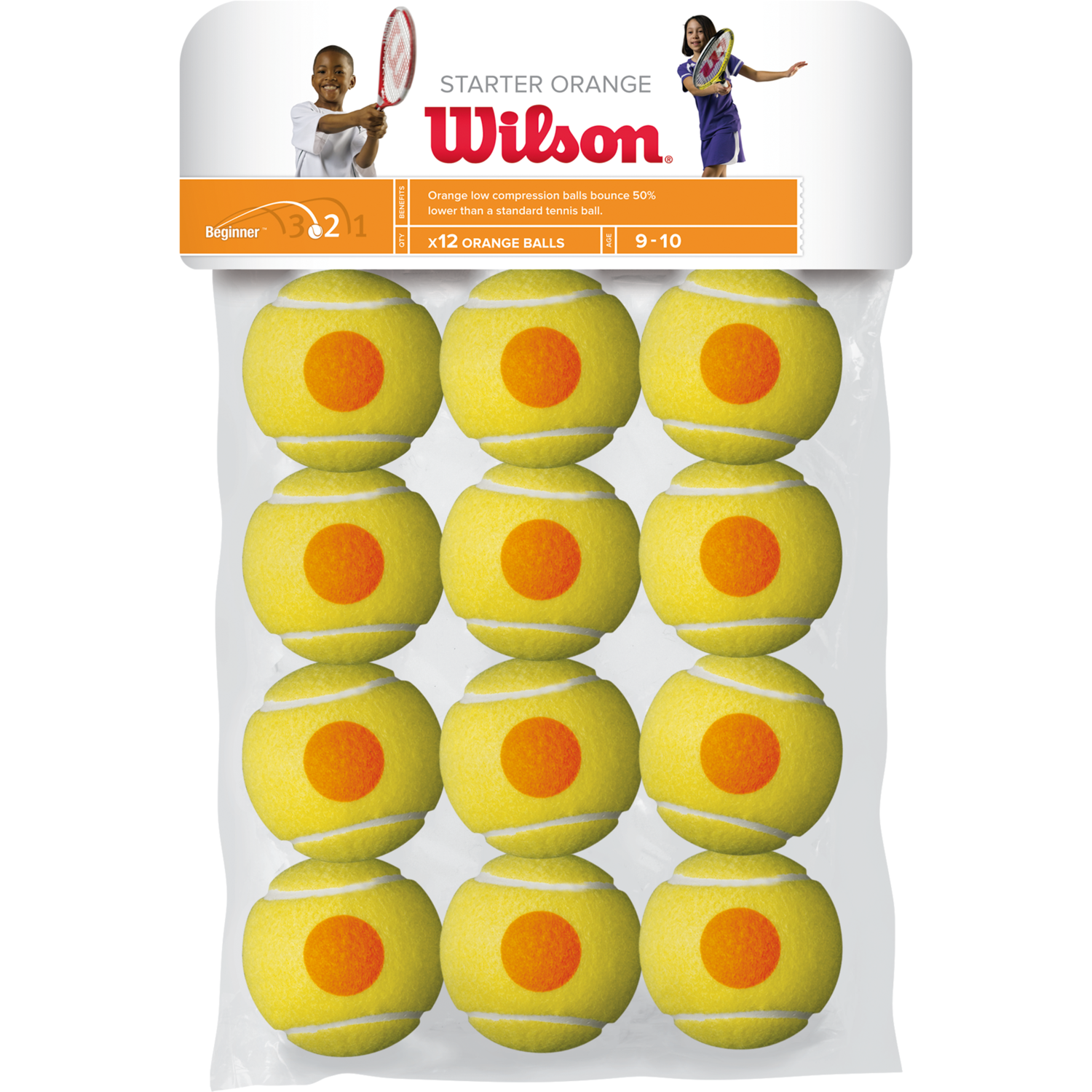 Wilson Starter Orange Tennis Balls - 12 Pack