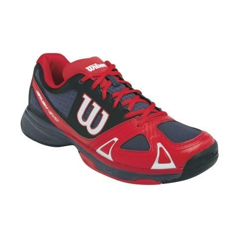 Men's Wilson Rush Evo Tennis Shoes Orange/Red A97a2617