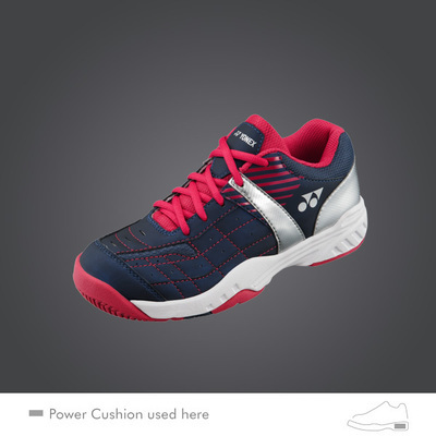 Yonex SHT Pro Junior Tennis Shoes - Navy/Red