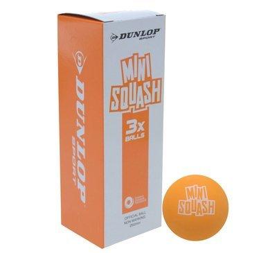 Dunlop Mini Play Squash Ball - Box of 3
