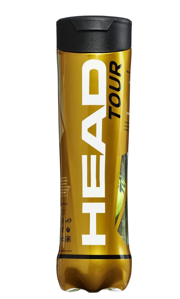 Head Tour Tennis Balls - 4 Ball Tube