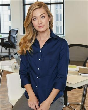 Women's Three-Quarter Sleeve Baby Twill Shirt -