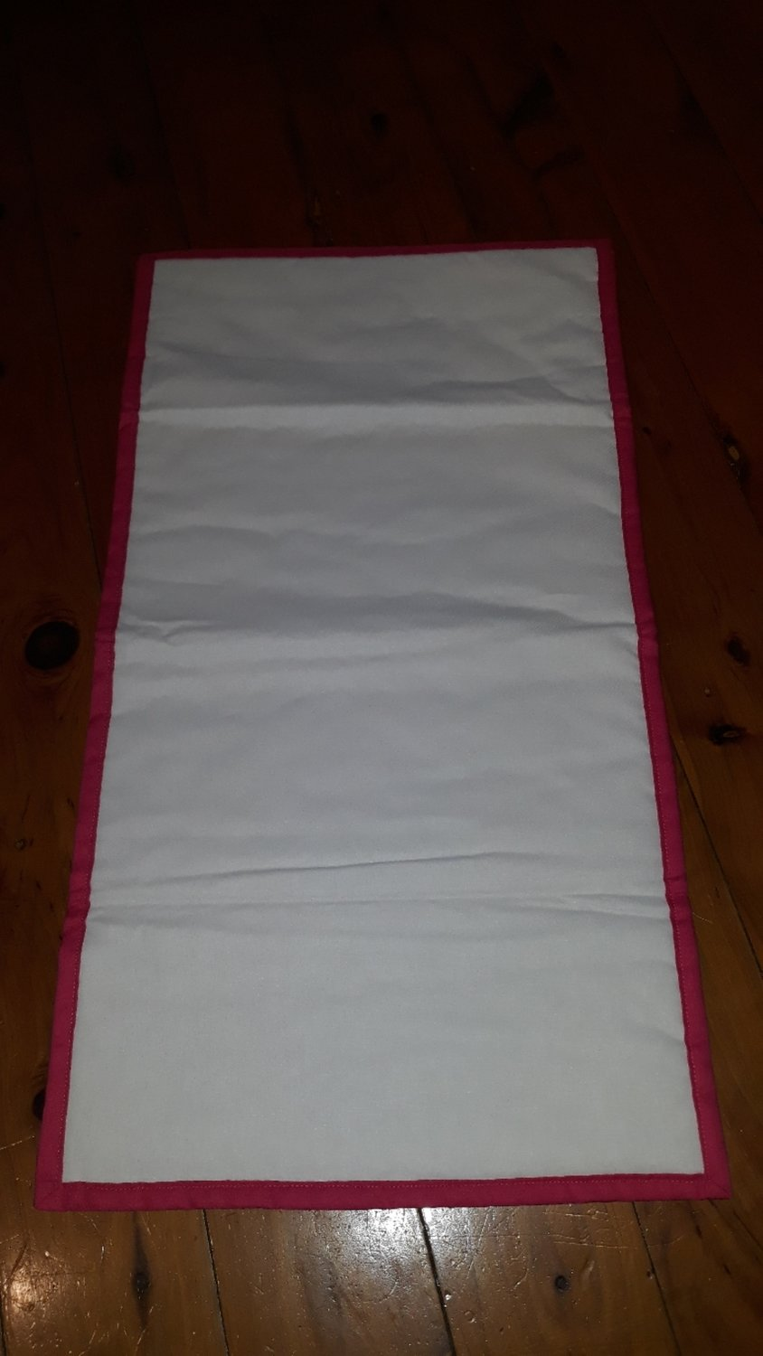 White and Pink Custom rectangle medal bunting
