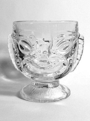 Glass Two Faces Tiki Mug 17 oz