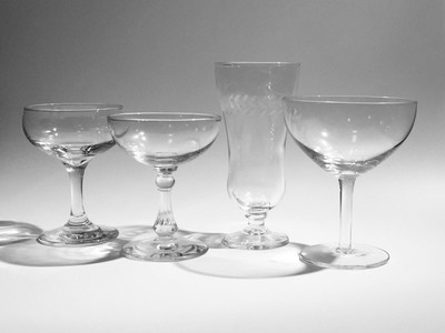 Cocktail Glasses, Mixed Set of 4