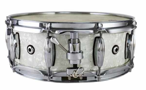 "Masshoff Drums 14""x 5"" Premium Stahl Snare Drum ""Rogers / White Marine Pearl"""