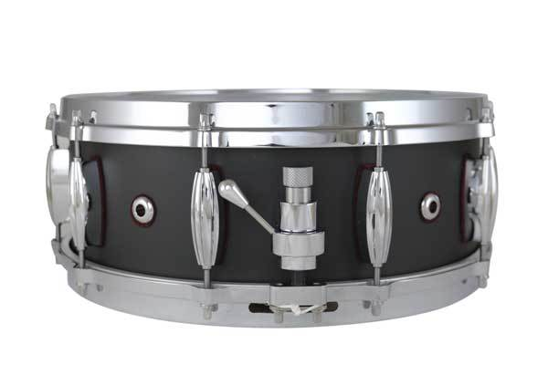 "Masshoff Drums 14""x 5.5"" Premium Stahl Snare Drum ""Poinciana Steel  / Tar Black"""