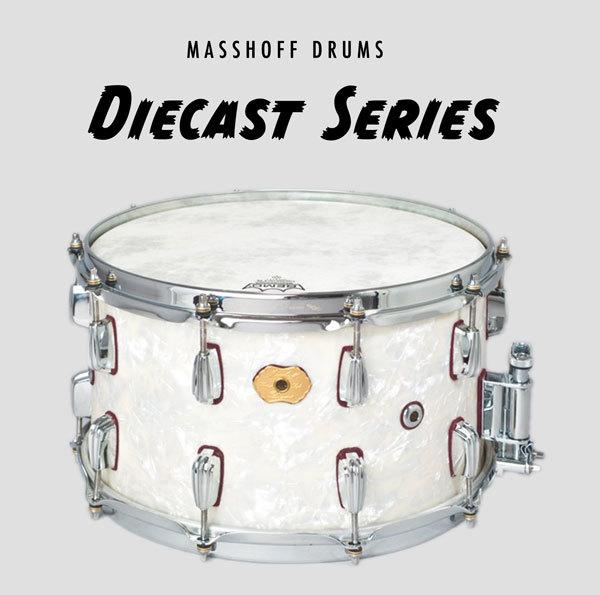 """Masshoff Drums 14""""x 08"""" Premium Stahl Snare Drum """"Big Chief Steel / White Pearl"""" 00049"""