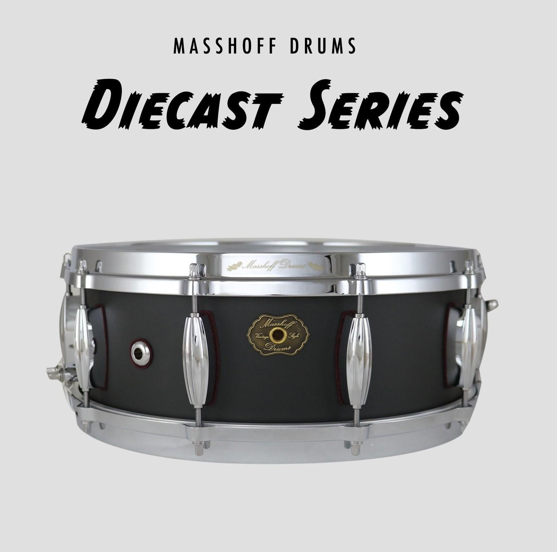 """Masshoff Drums 14""""x 5.5"""" Premium Stahl Snare Drum """"Poinciana Steel  / Tar Black"""""""