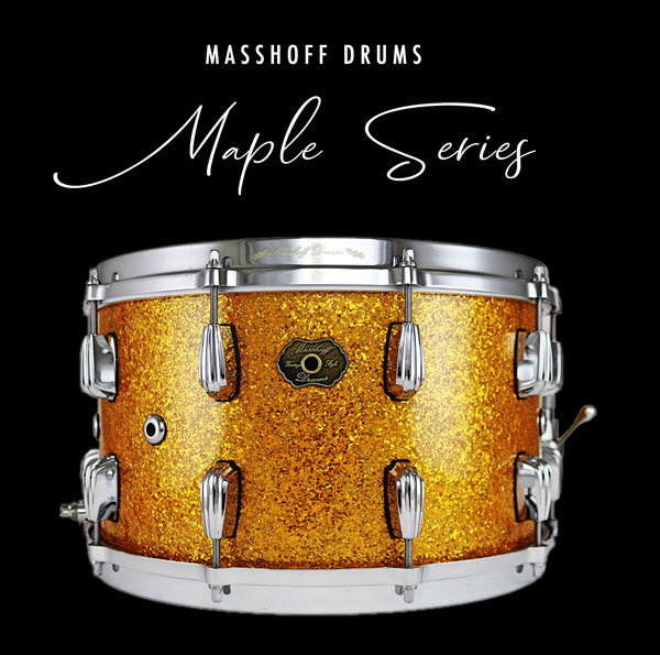 Masshoff Drums Maple Series / Big Chief Gold Sparkle