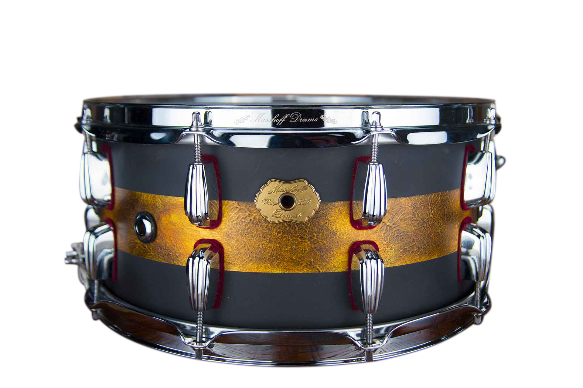 "Masshoff Drums 14""x 6.5"" Premium Stahl Snare Drum ""Avalon Steel / Duco King"" 00055"