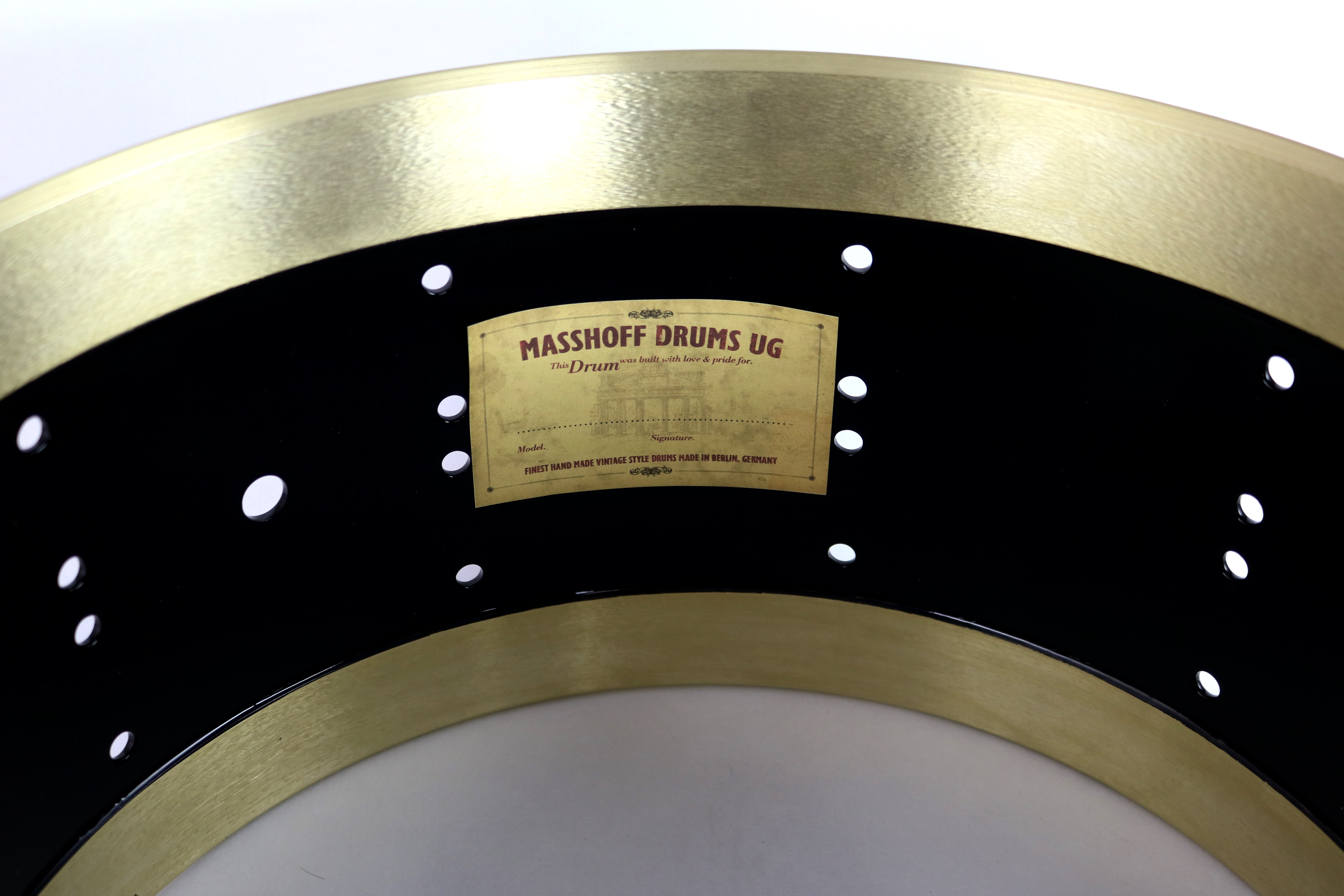 "Masshoff Drums 14""x 6.5"" Messing Snare Drum ""Avalon Brass / Duco King"""