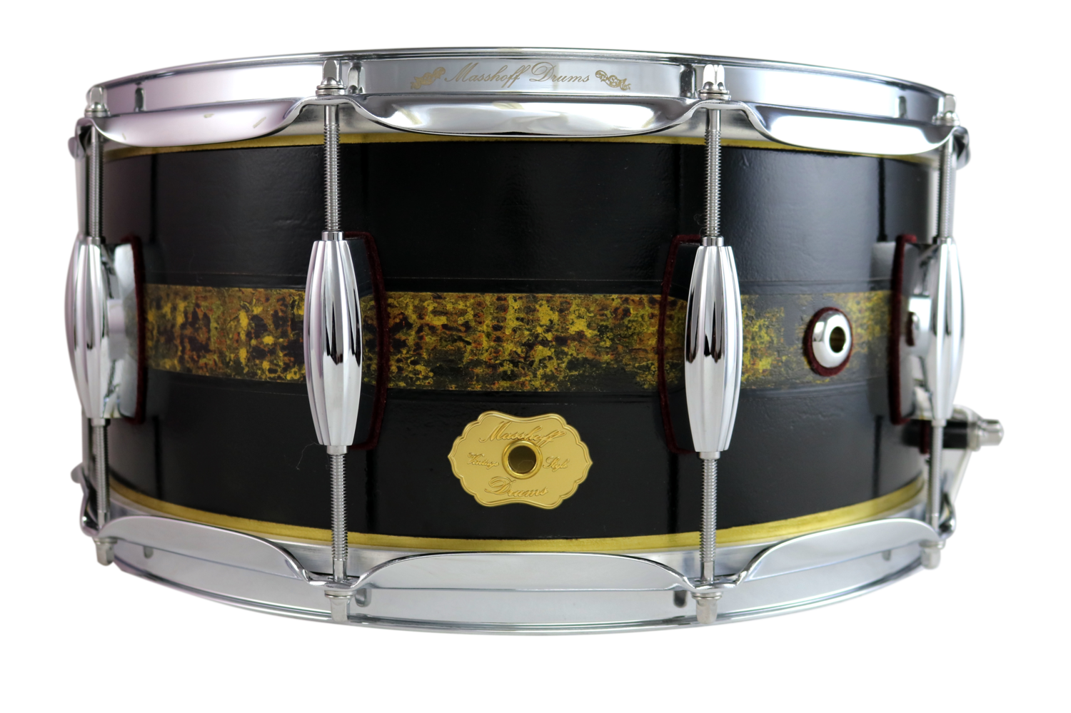 "Masshoff Drums 14""x 6.5"" Snare Drum Avalon Brass / Duco"