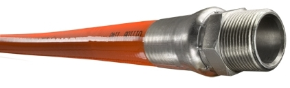"Piranha® Mainline Theromoplastic Sewer Cleaning Hose - [Orange - 5/8"" x 500' - 2500 PSI]"