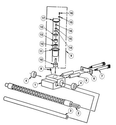 Power Winch Level Wind Assembly