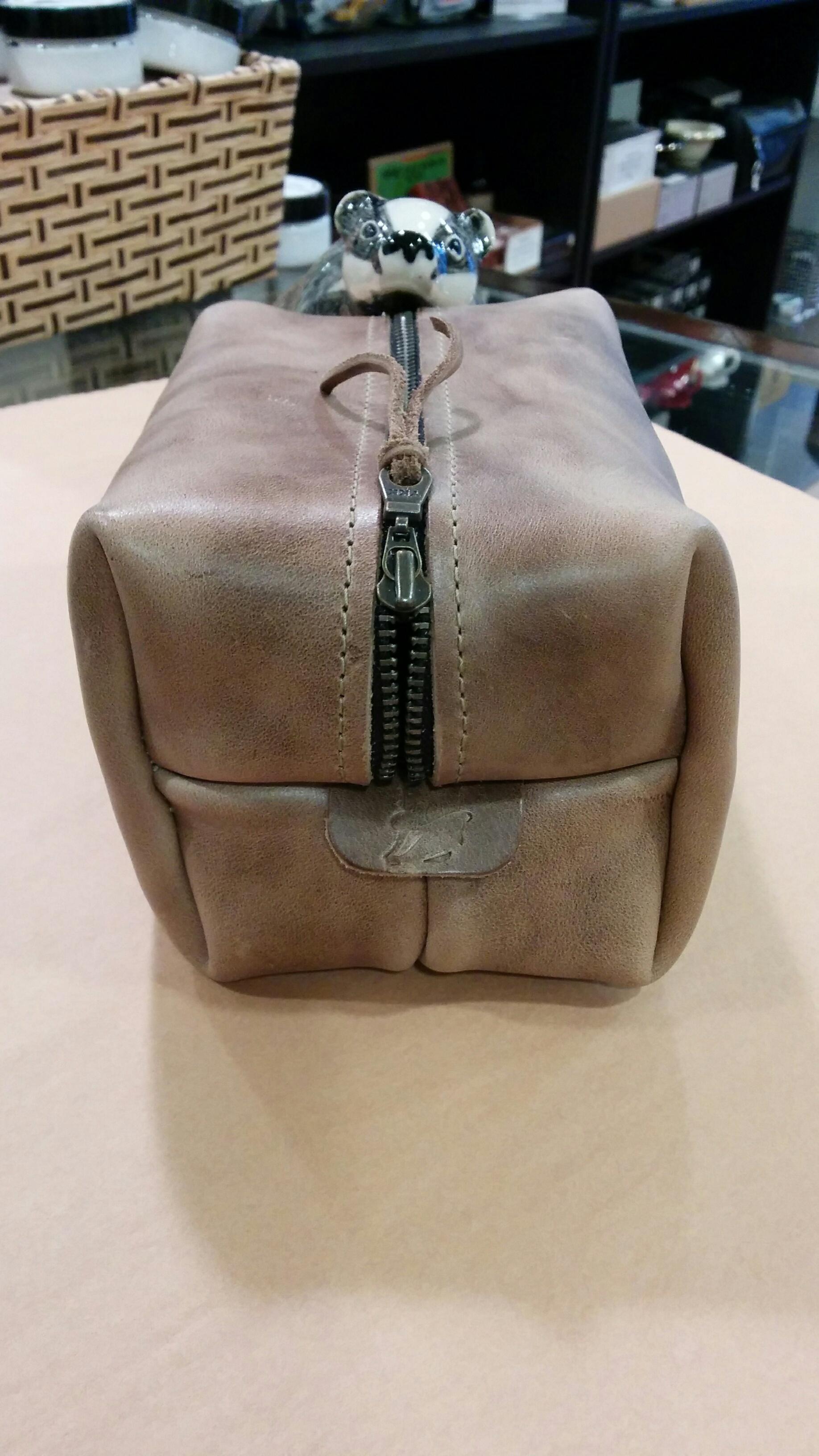 Popov SMALL Leather Dopp Bag - Driftwood POPDOPPSM