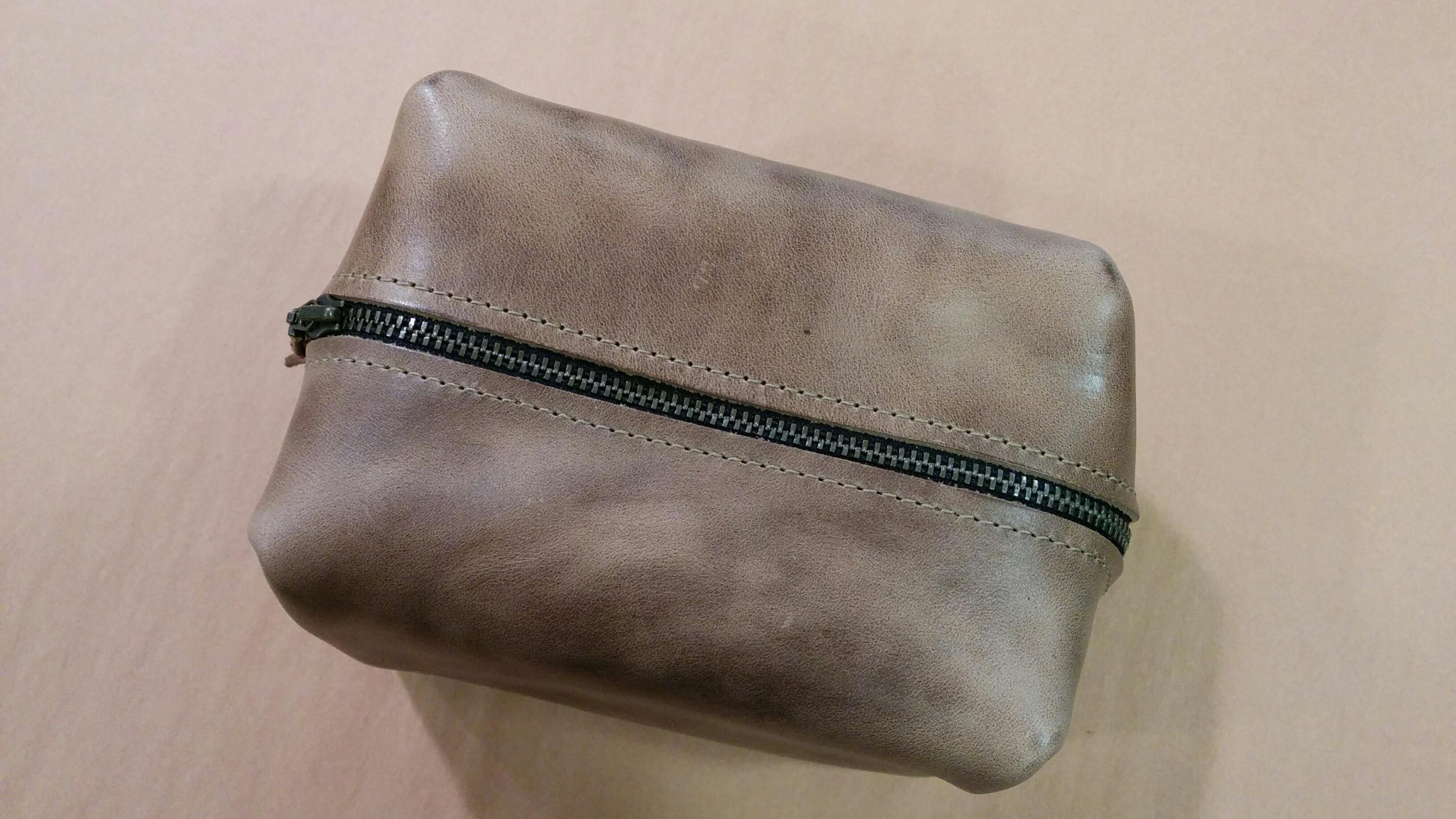 Popov SMALL Leather Dopp Bag - Driftwood