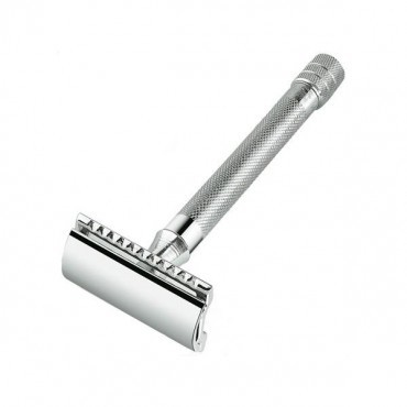 Merkur 23C Straight Cut X-Long Handle DE Razor - Chrome