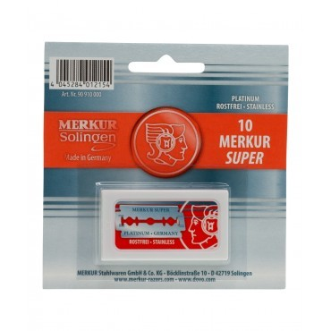 Merkur Super Platinum DE Safety Blades (10 Blades/Pack)